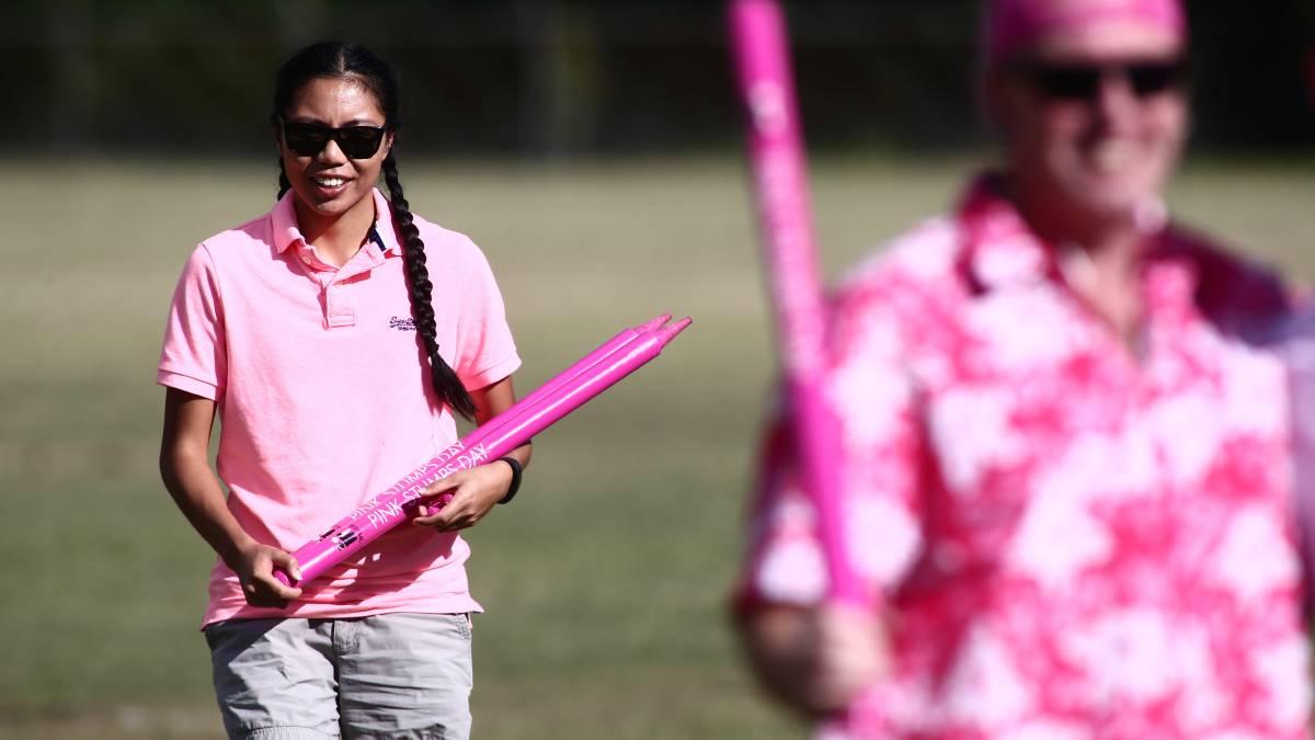 Pink Stumps Day cricket match at Richmond High School