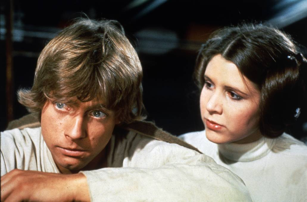 Mark Hamill and Carrie Fisher in the original Star Wars. Picture: Supplied