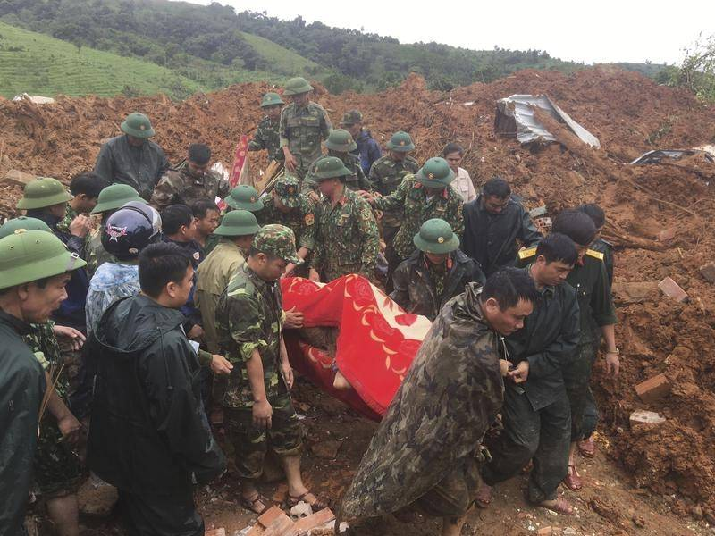 The Vietnamese government says it's never lost so many military members in natural disasters.