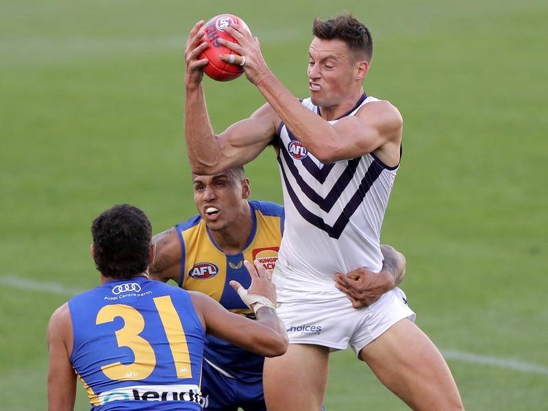 Fremantle's Ethan Hughes was injured against West Coast and faces a stint on the sidelines.