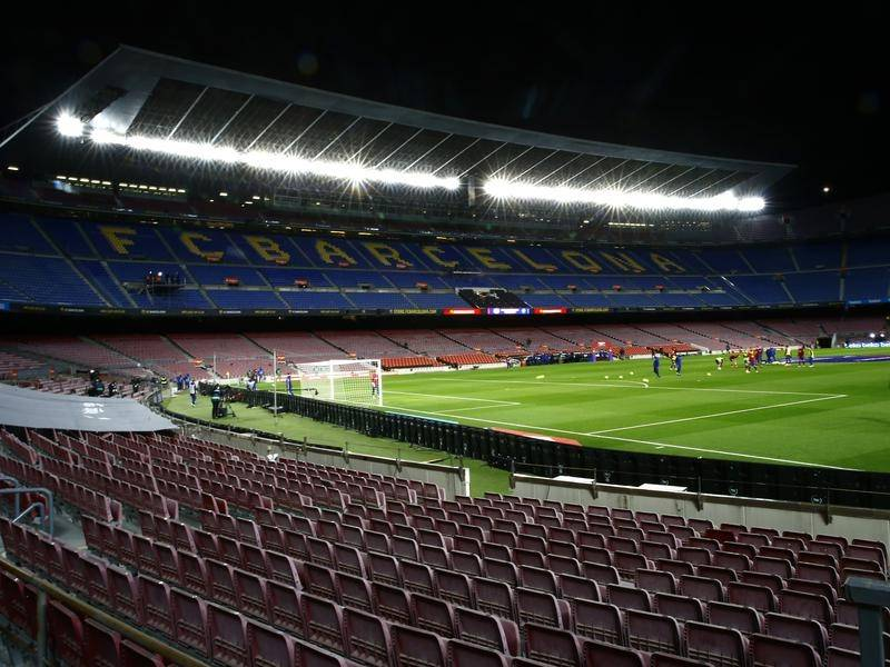Barcelona have had to play in an empty stadium since last March because of the pandemix.