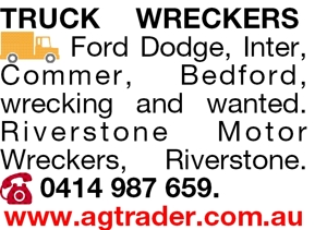 TRUCK WRECKERS Ford Dodge, Inter, Commer, Bedford, wrecking an